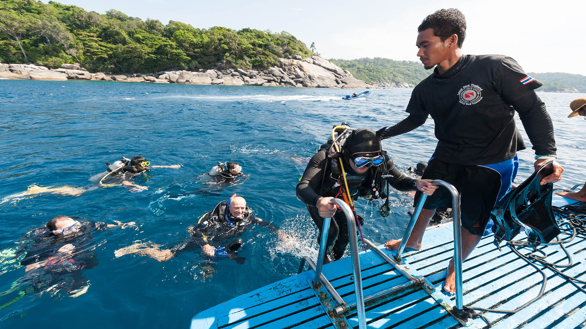 Our Friendly Crew Helping Divers get Back On Board
