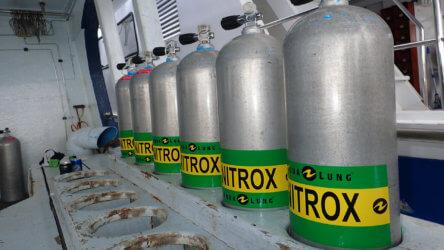 Nitrox Tanks Ready To Use