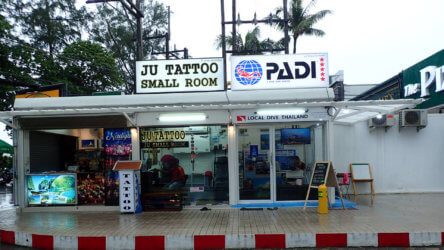 local dive thailand shop one in patong