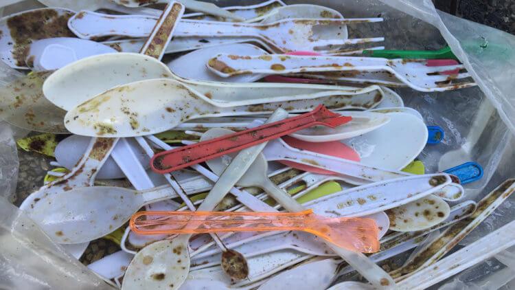 single use plastics from kata reef