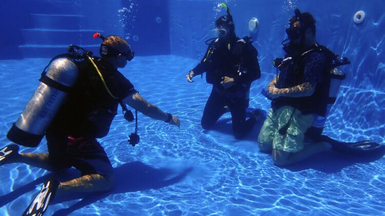 pool training for a phuket padi open water course