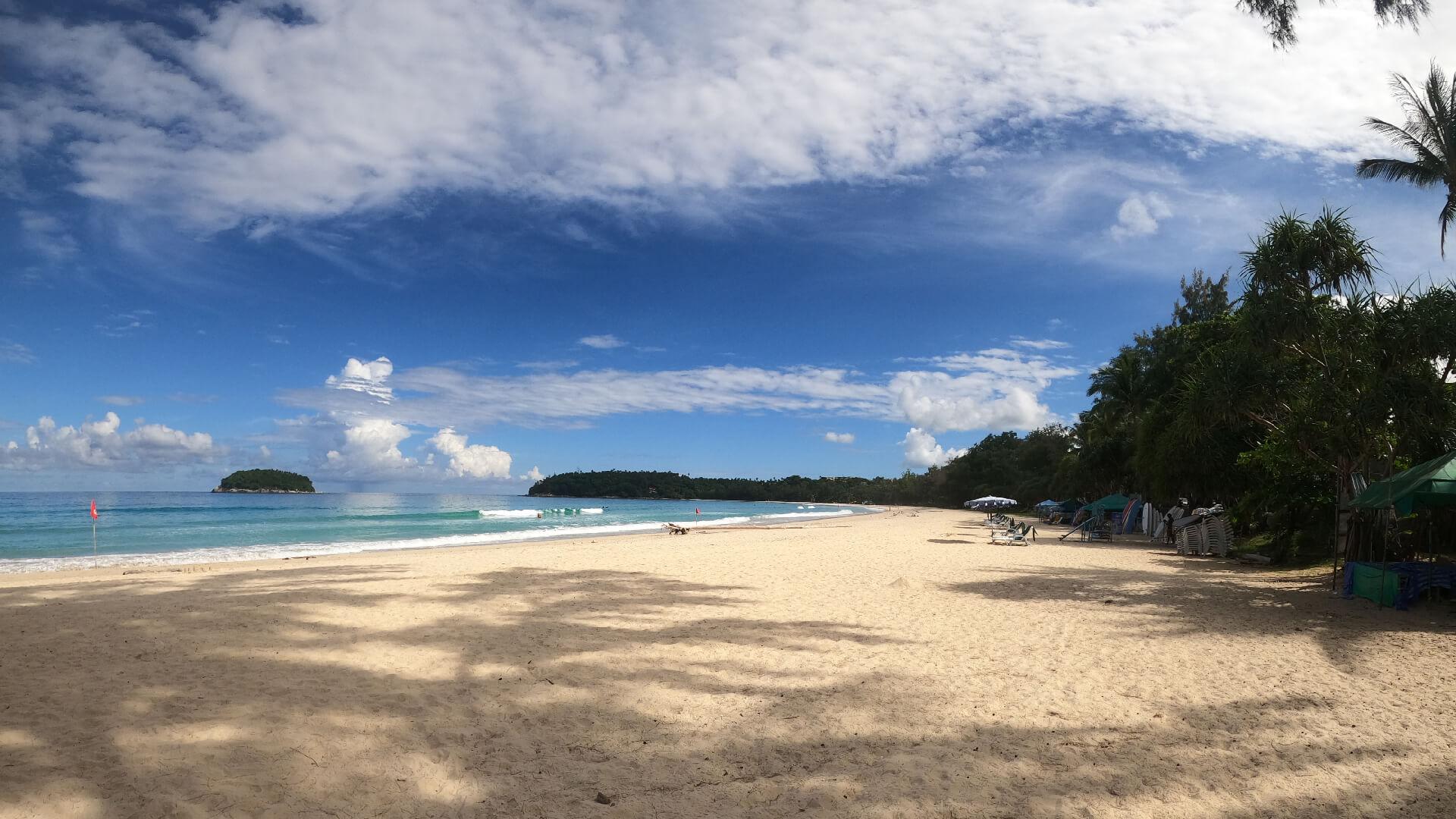 a deserted kata beach