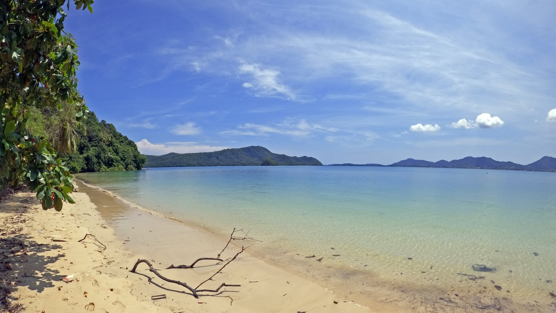 small but scenic beaches along the west coast of cape panwa