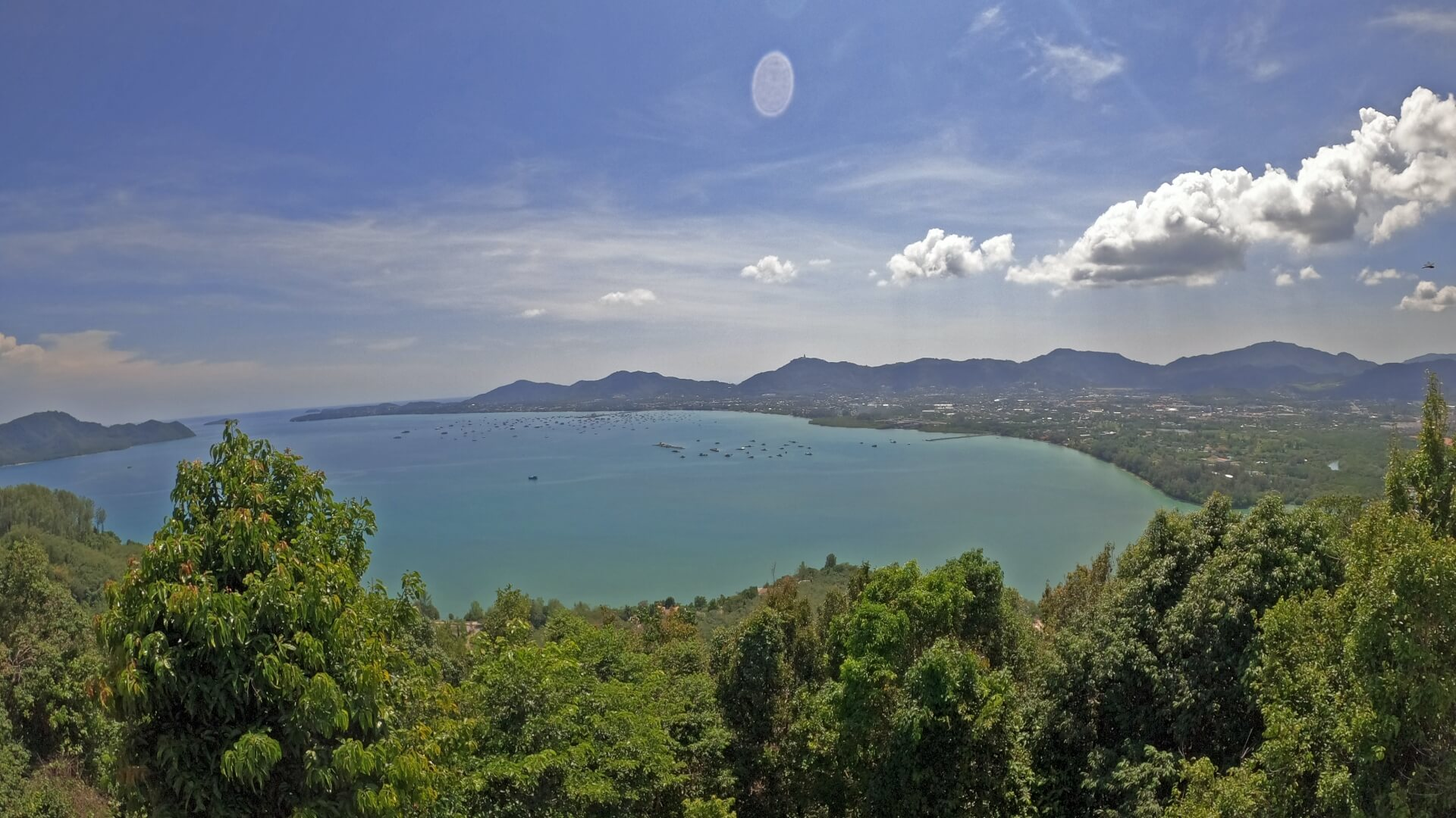 view of chalong bay from koh kaed viewpoint