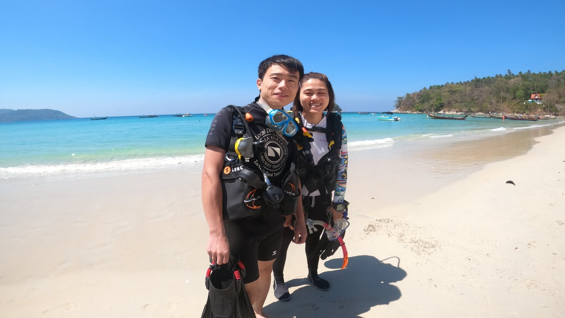 reduce the cost of scuba diving in thailand by diving from the beach