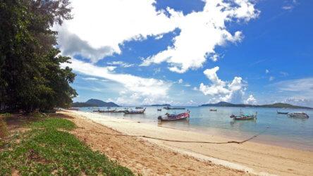 longtail boats in rawai waiting for the phuket tourism sandbox