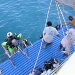 dive platform with helpful crew